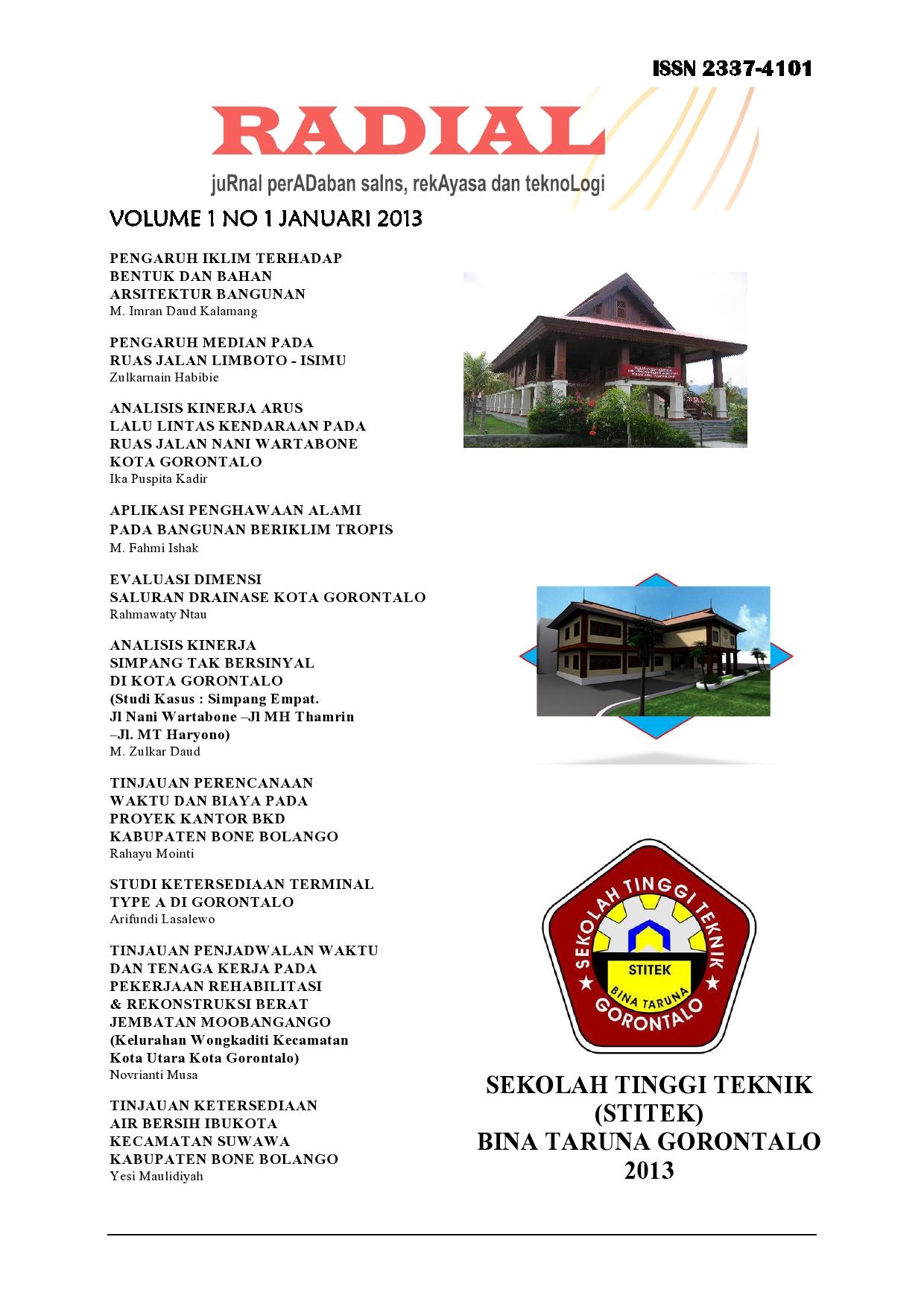 Tinjauan Kesediaan Air Bersih Ibukota Kecamatan Suwawa Kabupaten Bone Bolango Radial Jurnal Peradaban Sains Rekayasa Dan Teknologi